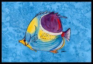 Fish Tropical Indoor / Outdoor Mat - 24 Inches By 36 Inches. by Caroline's Treasures. $38.99. Beach Mutiple Manatee Indoor / Outdoor Mat 24x36 - 24 inches by 36 inches. Permanently dyed and fade resistant. Great for the front door or the back door. Use this mat inside or outside. Use a garden hose or power washer to chase the dirt off of the mat. Do not scrub with a brush. Use the Vacuum on floor setting. Made in the USA. Clean stain with a cleaner that does n...