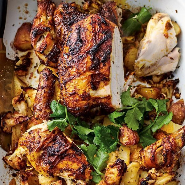 Jamie Oliver's recipe for Roast Tikka Chicken, as seen on his Channel 4 series, Quick & Easy Food, creates this classic Indian dish with minimum fuss and maximum flavour.