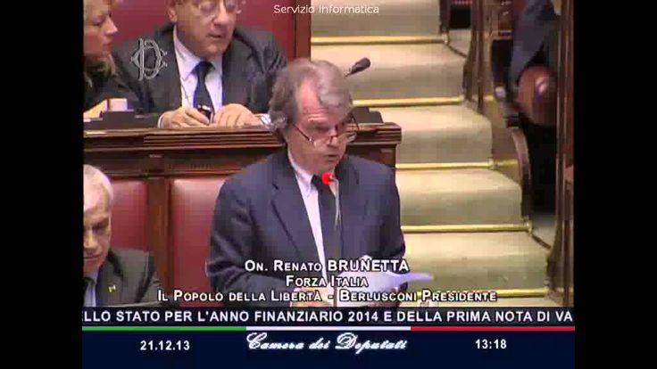Renato Brunetta interviene alla Camera dei deputati - 21/12/2013