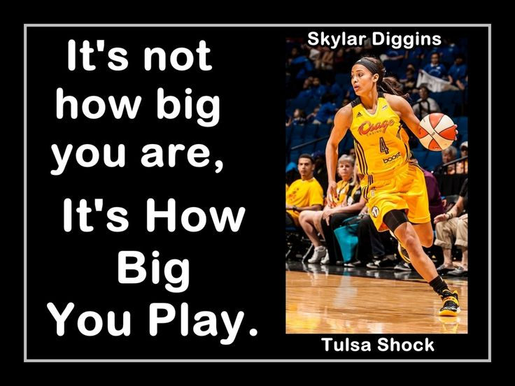 "Basketball Poster Skylar Diggins Tulsa Shock Photo Quote Wall Art 8x11""- 11x14"" Not How Big You Are - It's How Big You Play - Free USA Ship by ArleyArtEmporium on Etsy"