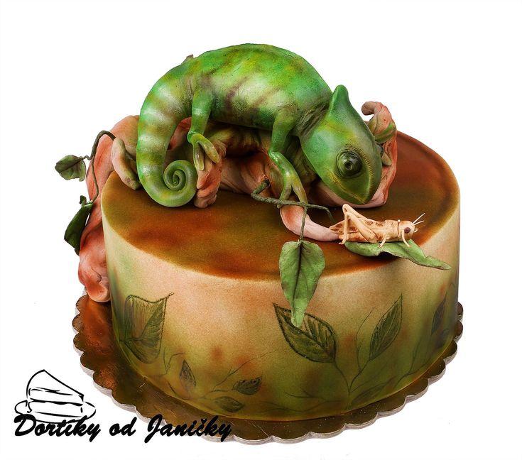 Chameleon cake
