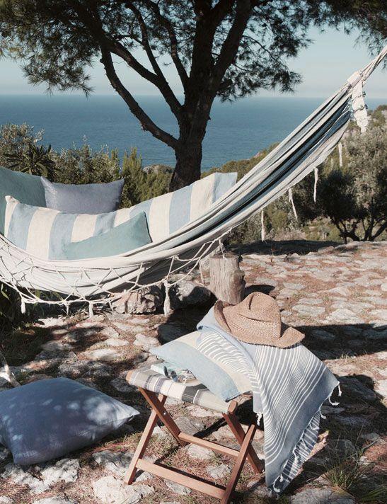 awesome outdoor hammock - accessoires - gestreepte hangmat - buiten