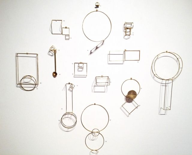 Anna Varendorff - 'Shadow works', brass - showing at Spiro   Grace Art Rooms as part of MADE II 19 October - 17 November 2012
