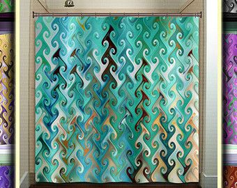 brown and turquoise shower curtain. teal chevron curtain  Etsy RU Best 25 Turquoise shower curtains ideas on Pinterest Mermaid