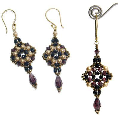Tuscan Drop Earrings by Deb Roberti at AroundTheBeadingTable.com