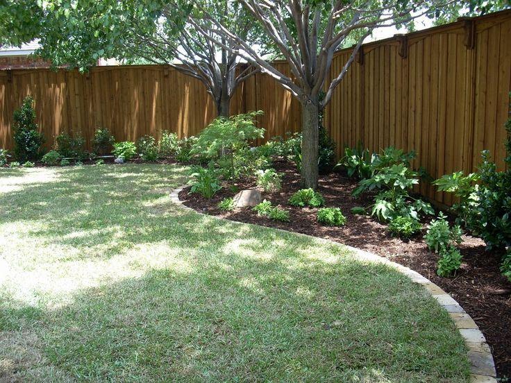 Plano, Texas Backyard Patio and Landscape | Backyard trees ... on Backyard Landscaping Along Fence id=83343
