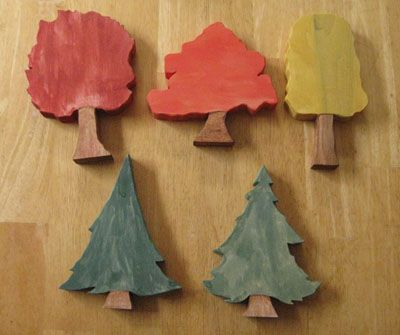 Toy trees - Apparently I need a scroll saw.