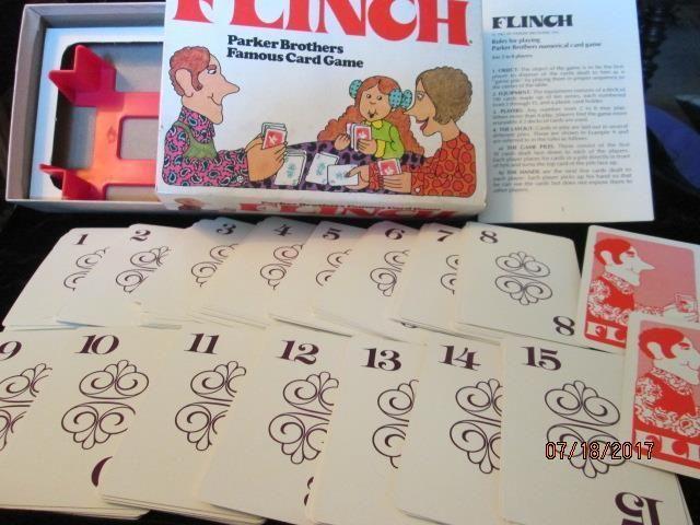 Vtg 1976 FLINCH Parker Brothers Famous Card Game 100% Complete