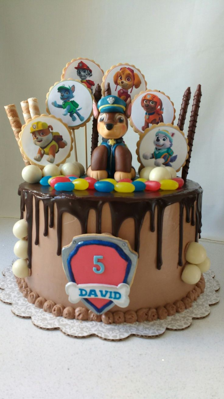 Paw Patrol Drip Cake Cakes Pop Party Time Lion Cracker Tartas Fondant Desserts