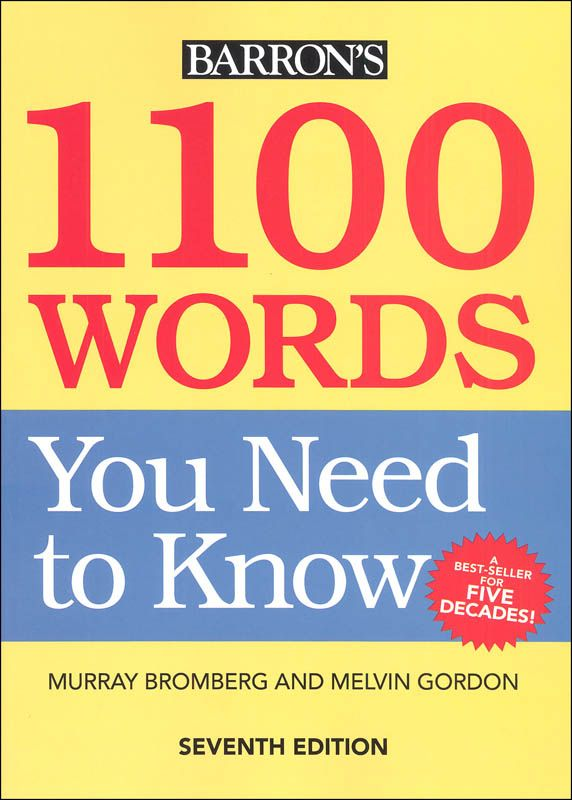 Baron S 1100 Words You Need To Know Seventh Edition The Words Neue Worter Kindle Bucher