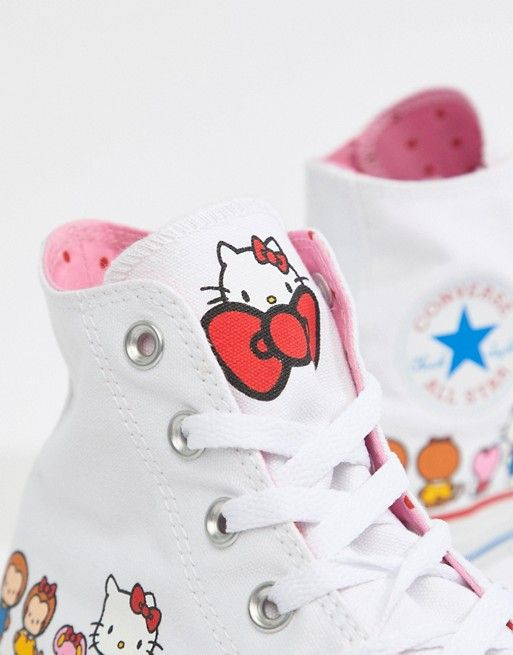 finest selection d1c1b d0ca7 Converse X Hello Kitty Hi Träningsskor