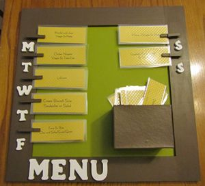 """What's For Dinner? Meal plan!  I love that we can choose from our more frequent dinner options.  We're always asking ourselves, """"what do we eat??"""""""