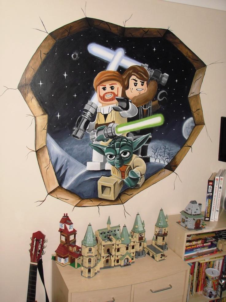 lego star wars mural star wars. Black Bedroom Furniture Sets. Home Design Ideas