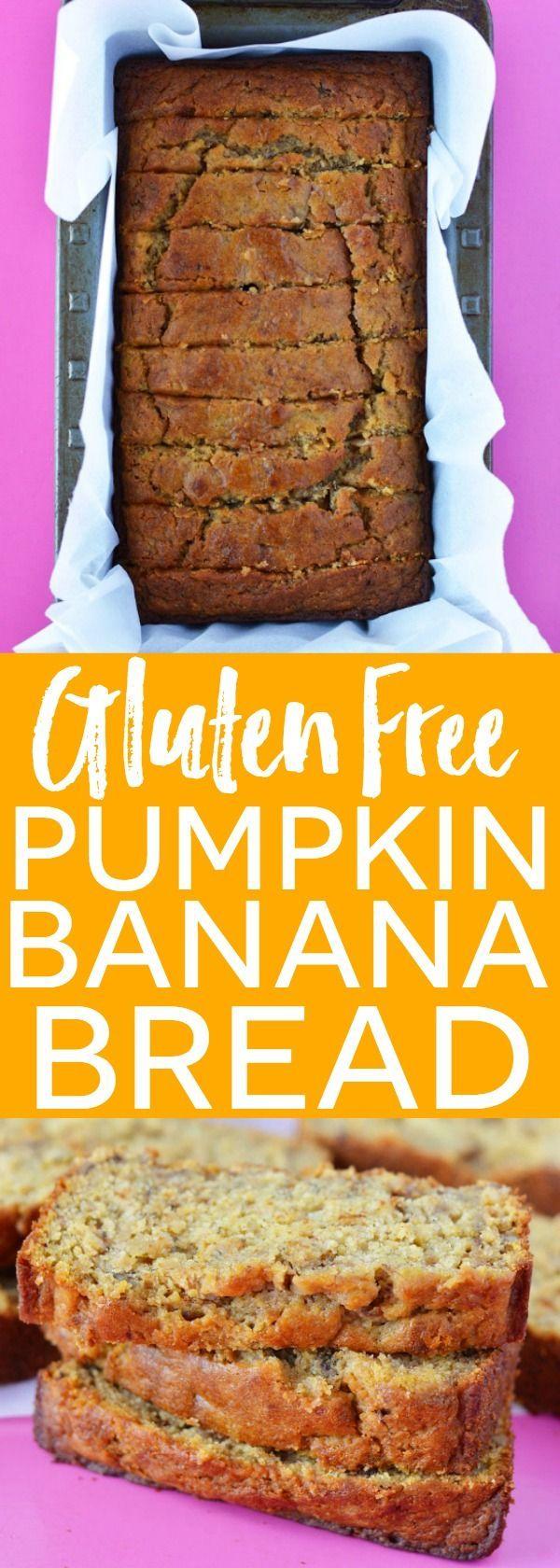 Gluten Free Pumpkin Banana Bread. Recipe from @whattheforkblog…
