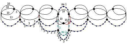Схема колье Маркиза в технике АНКАРС (фриволите с бисером)