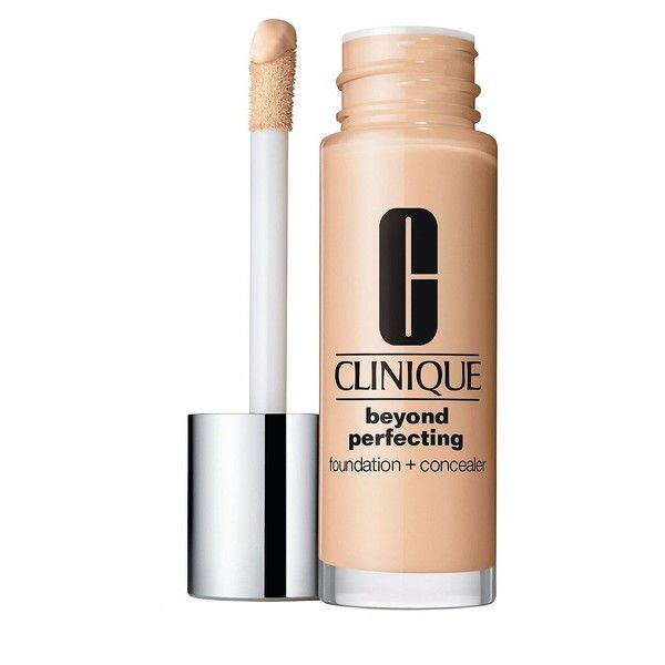Clinique Beyond Perfecting Foundation Concealer/1 oz. ($27) ❤ liked on Polyvore featuring beauty products, makeup, face makeup, beauty, filler, apparel accessories, beige, evening makeup, clinique makeup and holiday makeup