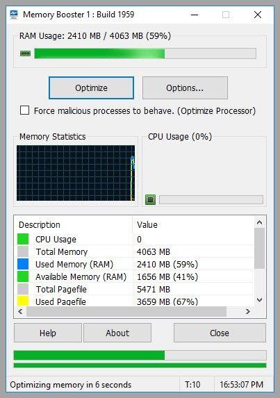 Υπάρχουν αρκετές εφαρμογές που υποστηρίζουν ότι θα βελτιστοποιήσουν τη μνήμη του υπολογιστή σας ωστόσο πολλές από αυτές θα προσπαθήσουν να το κάνουν προσπαθήσουμε απλά αναγκάζοντας τον υπολογιστή σας να απελευθερώσει βιαίως μέρος της μνήμης. Το Rizonesoft Memory Booster ακολουθεί μία διαφορετική φιλοσοφία καθαρίζοντας το χώρο εργασίας όλων των διαδικασιών που έχουν απομείνει ως κατάλοιπα απελευθερώνοντας μνήμη κάτι που θα βοηθήσει να βοηθήσει στη βελτίωση της ταχύτητας και της σταθερότητας…