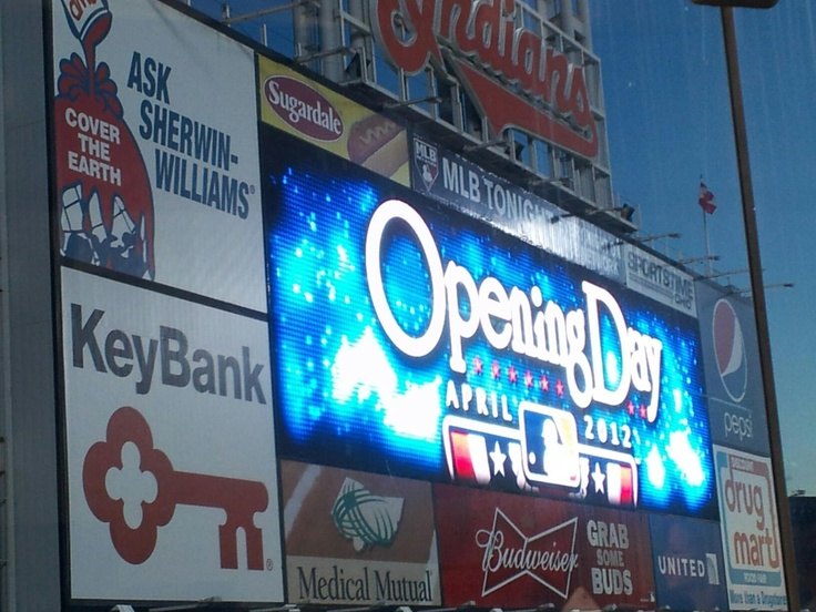 4/2/12 - Early morning on Opening Day at Progressive Field.  Go Tribe!!!