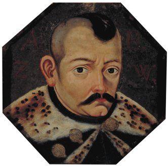 Portret trumienny mężczyzny A B Z W z Kociewia, ok. 1650 r.