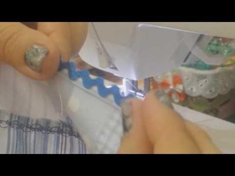 Como costurar o bordado inglês na fralda de passeio, FRALDA GRANDE - YouTube