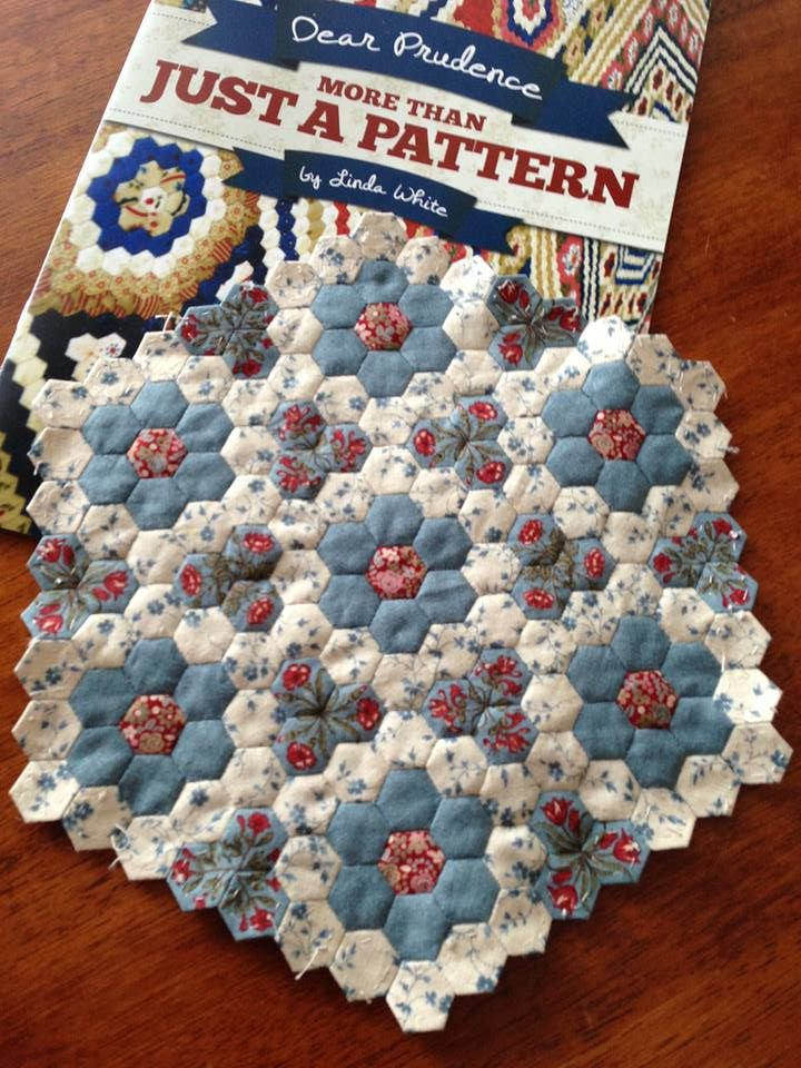 """Sophie's Dear Prudence using 3/8"""" hexagons                                                                                                                                                                                 More"""