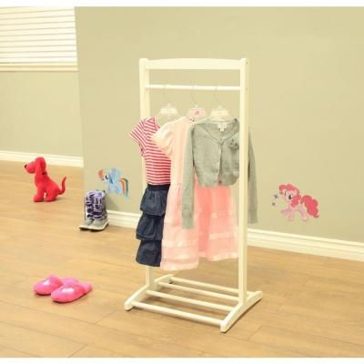 Homecraft Furniture 1-Hook Kid's Contemporary Wooden Cloths Hanger in…