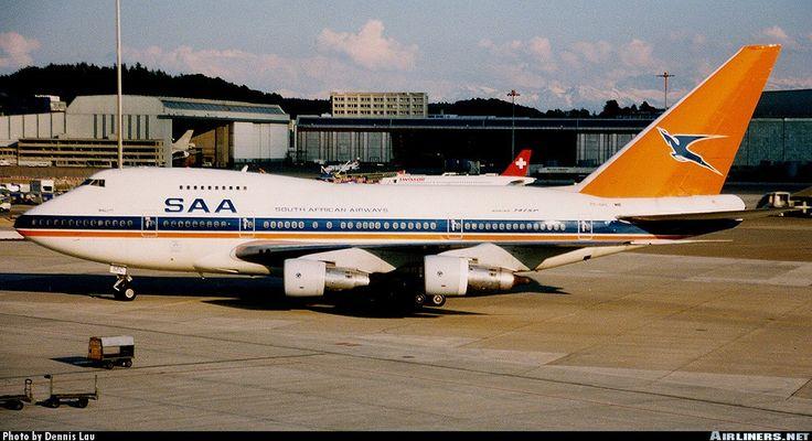 South African Airways ZS-SPE 'Hantam' Boeing 747SP at Kloten airport Zurich, Switzerland. Entered service in 1976.