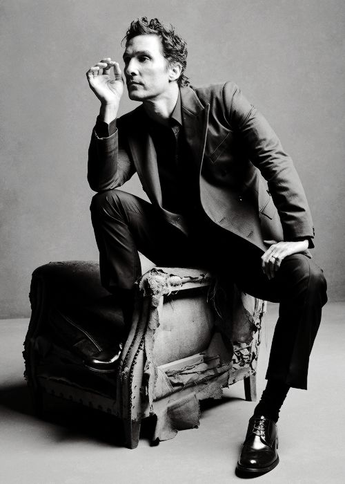 "simobutterfly: ""  Matthew McConaughey goes Sartorial in Dolce & Gabbana, shot by Mark Selinger for Icon Magazine. """