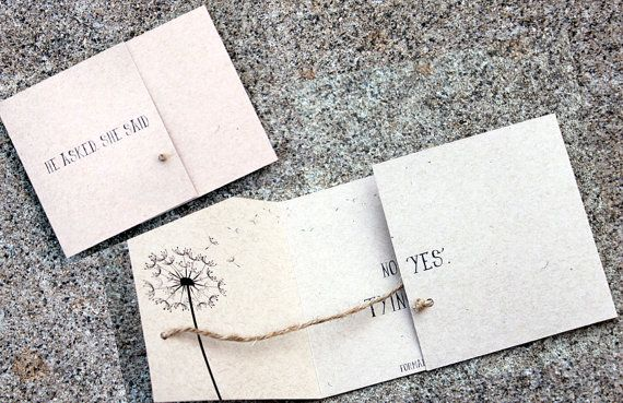 Tying the Knot Save the Date set of 25 handmade by by SweetSights