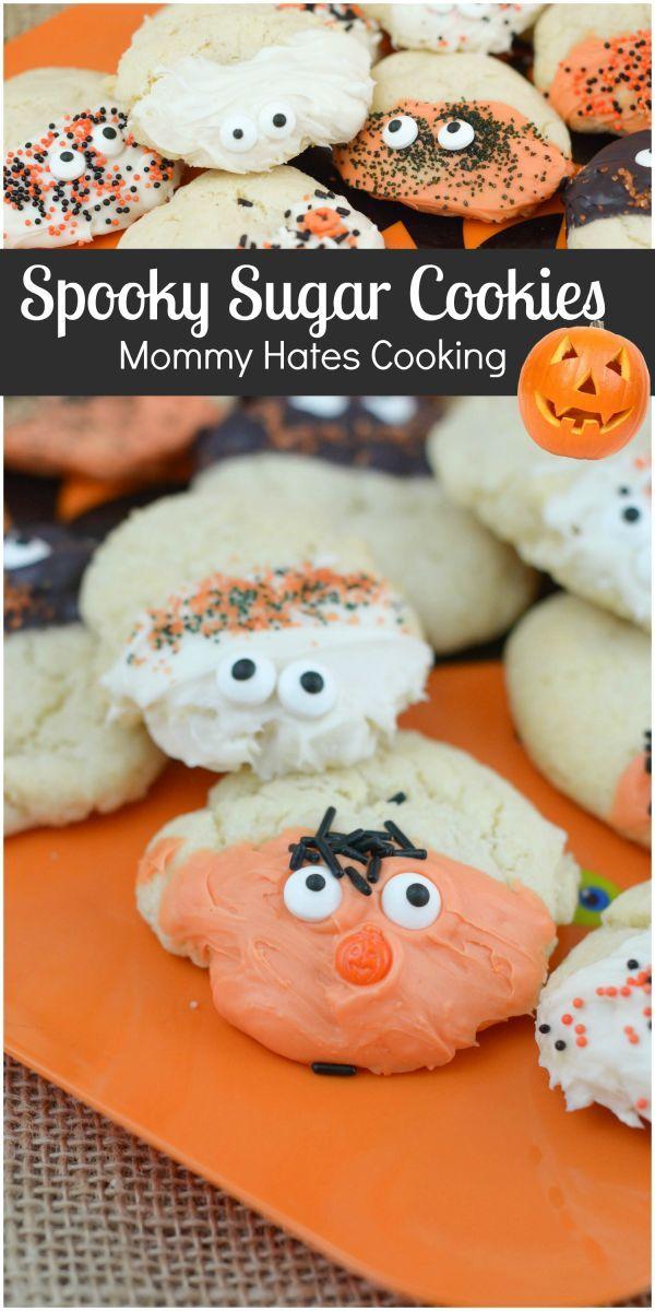 spooky sugar cookies halloween recipes - How To Decorate Halloween Cookies