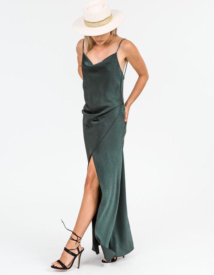 Camilla And Marc - Bowery Slip Dress Khaki