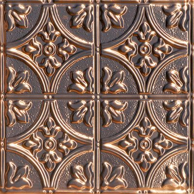 """Queen Victoria available in real solid copper and solid aged copper for nail up and drop in installations. Class """"A"""" fire rated for commercial projects. Samples available."""