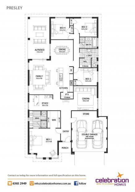 Display homes perth presley house design celebration for Trademark quality homes floor plans
