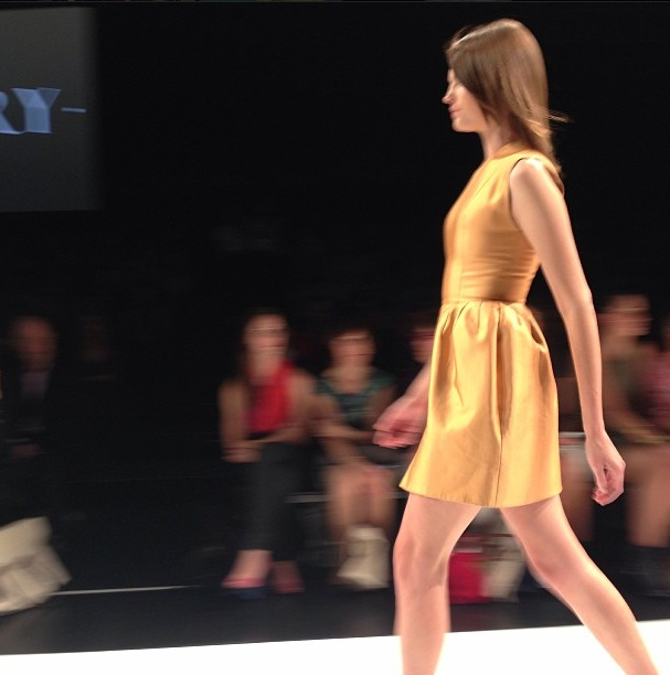 Day Two: Go get 'em gold @elleryland @David Jones Store  @Vogue Australia  #lmffnow #montanacox
