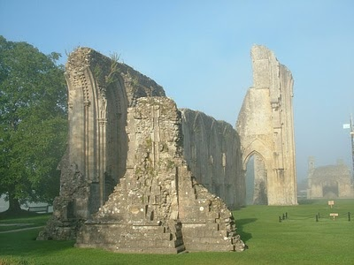 Glastonbury Abbey, the final resting place for Camelot's King Arthur & Queen Guinevere