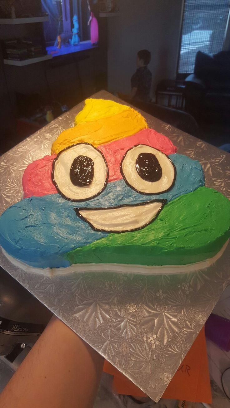 Rainbow Poop Emoji Cake