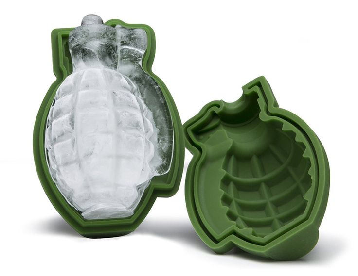 The explosively cool new 3D Grenade Ice Cube Mold is sure to make any drink way more exciting than it ever should be.