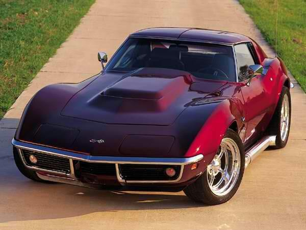 Now that is a nice 69 Corvette custom candy apple red paint job