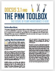 DOCSIS 3.1 and the PNM Toolbox: The Future of Plant Maintenance is Here - White Paper