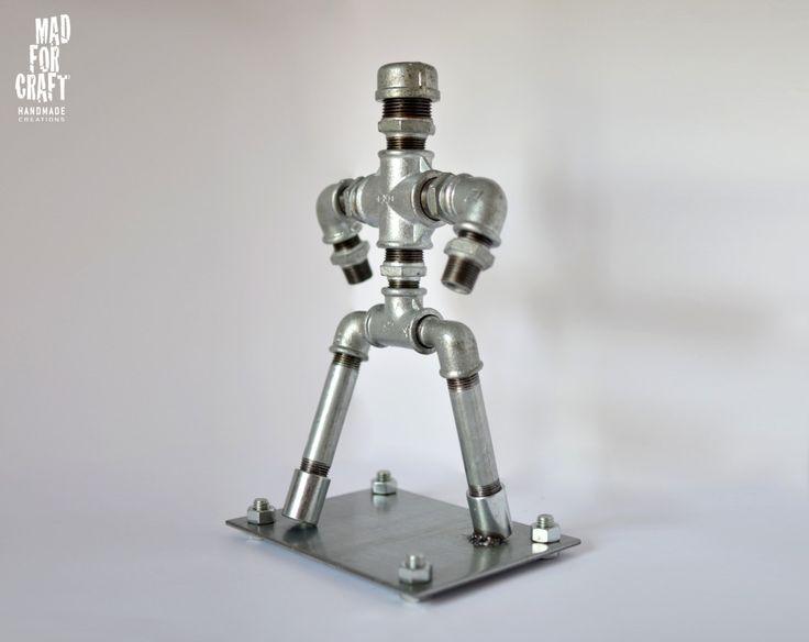 The Galvanized Figure, Industrial Design Metal Decorative Item by MadForCraftGR on Etsy
