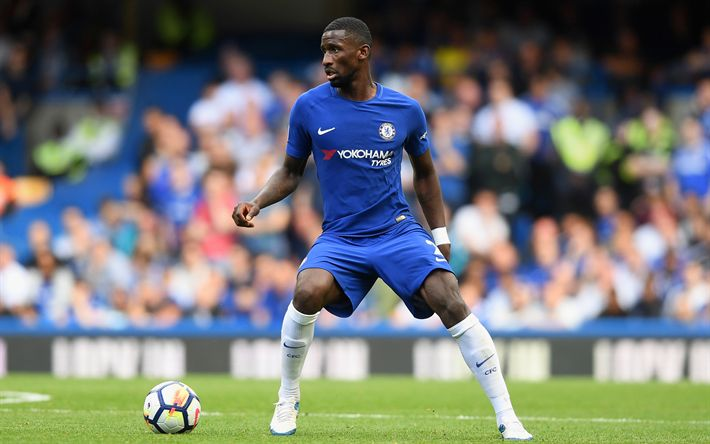 Download wallpapers Antonio Rudiger, Chelsea, 4k, footballers, Chelsea FC, Premier League, Toni Ruediger, soccer