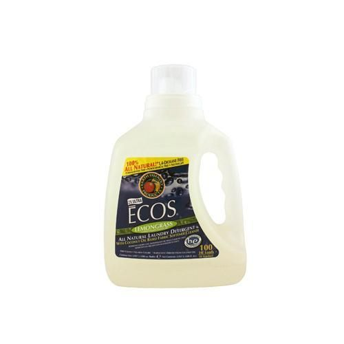 Earth Friendly Ecos Ultra 2x All Natural Laundry Detergent - Lemongrass - 100 Fl Oz