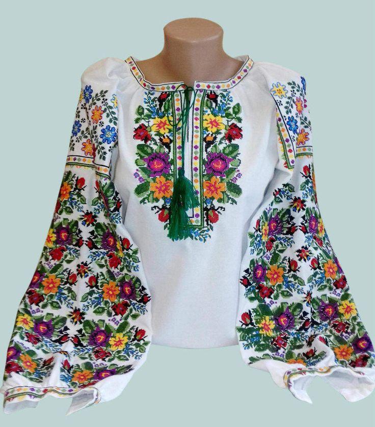 Fiore delle donne camicetta ricamata ricamo ucraino