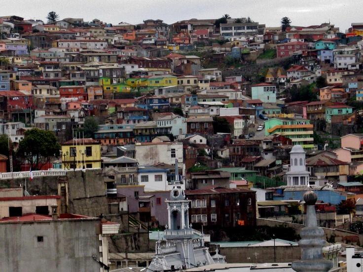 The cerros of Valparaíso, Chile