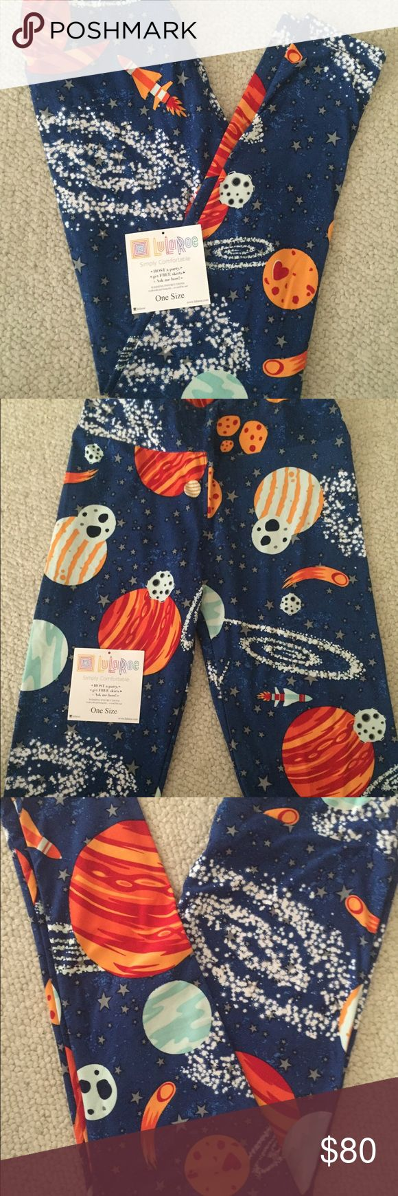 LuLaRoe OS Space Leggings! *MAJOR UNICORN* LuLaRoe OS (one size) Outer Space leggings! Major Unicorn 🦄 LuLaRoe Pants Leggings