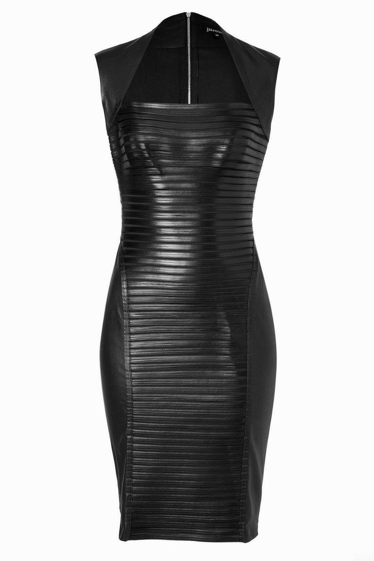 Wish I Was Wearing That: Little Black REAL LEATHER Dress!                                                                                                                                                                                 More