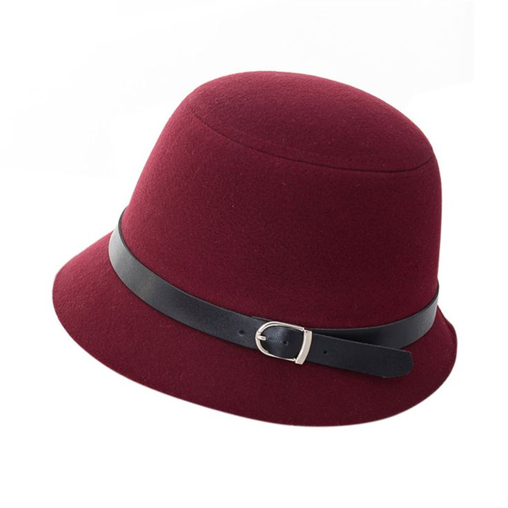 High  Quality Vintage Women Fedora Sexy Caps Wool Felt Wide Brim Bowler Hat Bucket Cap Multi-Colors 2017 New