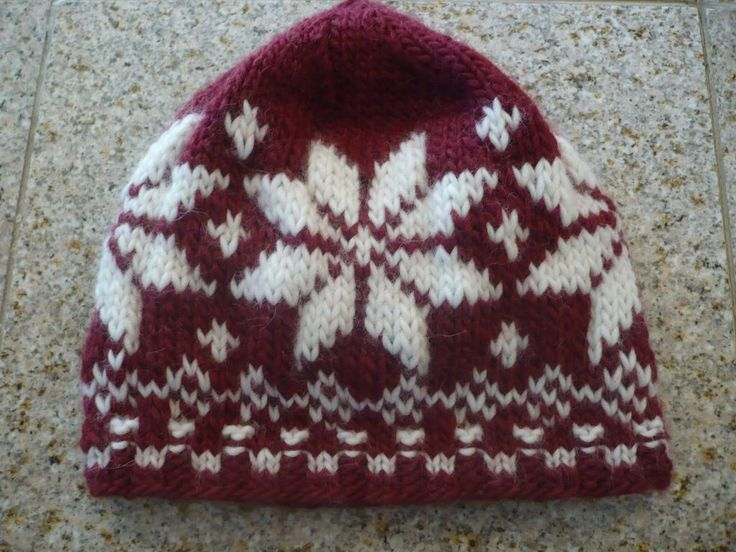 Norwegian snowflake hat My knitted projects Pinterest ...