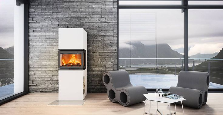 Jøtul FS 74 er konstruert med integrert brannmur.