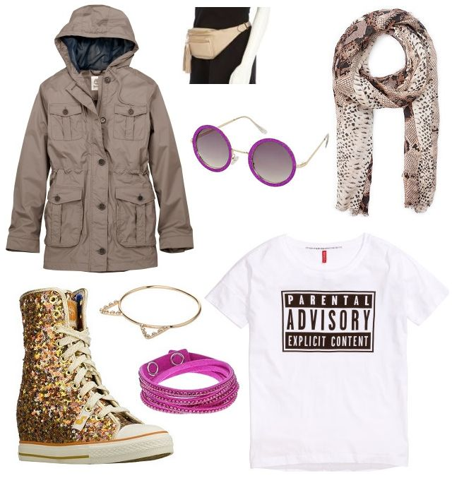 Jacket: Timberland, torebka River Island,  scarf: Mango, sunglasses: Topshop, shoes: Skechers, bracelets: Claire's and Topshop, t-shirt: H&M   Festival Wear - Open'er Shopping Route http://shoptrotter.com/users/shoptrotters/routes/zara-to-forever-18-2014-06-26/